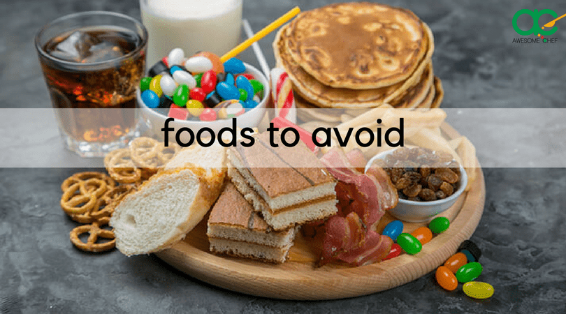 Foods to avoid in LCHF diet