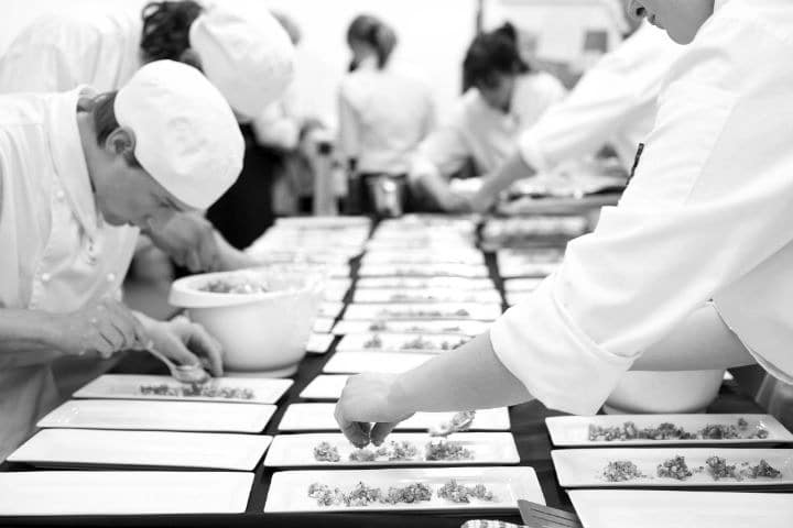 Chefs Plating Up