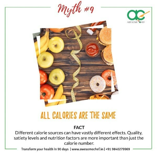 All Calories are Same Myth